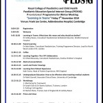 PEDSIG Winter meeting programme – exciting meeting in Cambridge November 2014