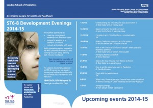 ST678 Development Evenings (LME) Dates and Details (2014-15)