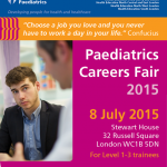 Paediatric careers evening on 8th July, 5.30-9.00pm at Stewart House.