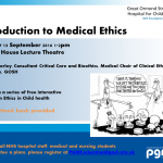 Introduction to Medical Ethics – 13th September