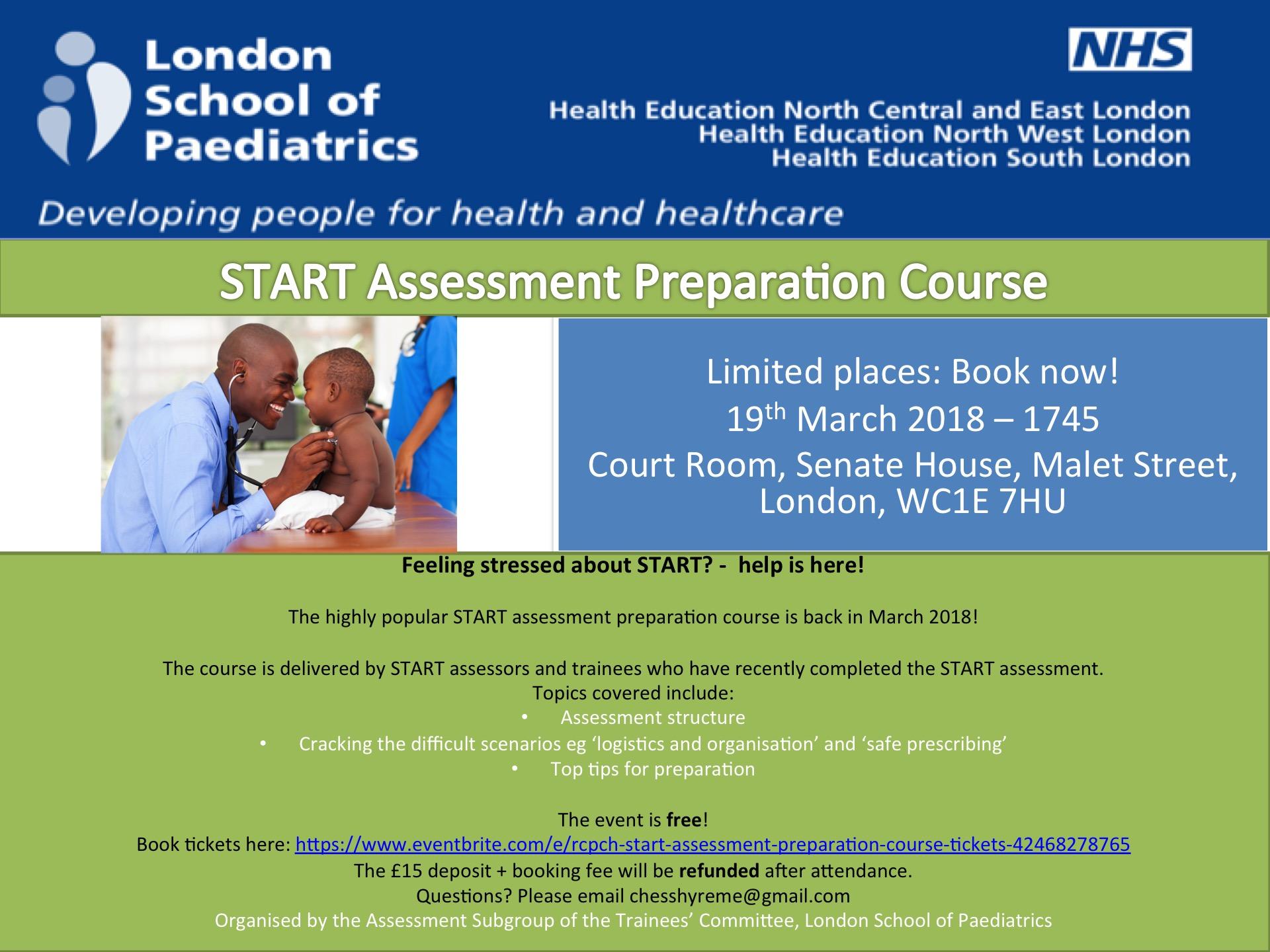 START Assessment Preparation 19.3.18
