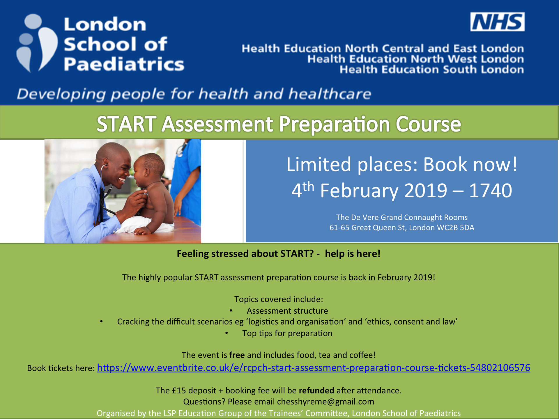 Free START Assessment Preparation Course 4th February 2019